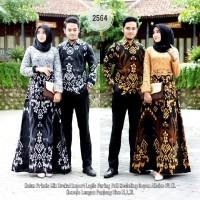 Batik Couple / Batik Sarimbit Gamis Brokat 2564