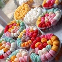 Baby Macaron (Macaroon) Cookies Toples isi 50 / Kue Kering Murah&Enak