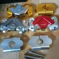 cover raiser stang cnc nitex bahan: aluminium sudah trmasuk baut 4pcs