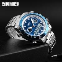 Jam Tangan Pria Digital Analog Skmei 1204 Blue Water Resistant 30m