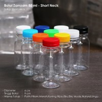Botol Zam Zam 80 ml - Short Neck Warna Warni