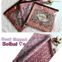 Segi Empat Bolbal / Jilbab bolak balik motif bunga & polka