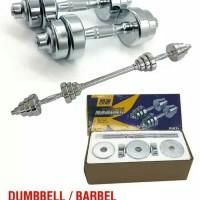 Dumbel Barbel Set Max 15kg Tiang Angkat Beban Besi 2 Pcs LX 014-5