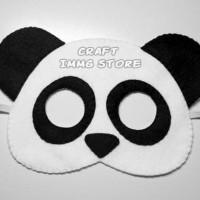 Topeng Flanel kostum hewan panda beruang pesta ulang tahun dewasa
