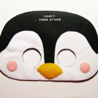 Topeng hewan Penguin topeng pesta ulang tahun topeng flanel kostum