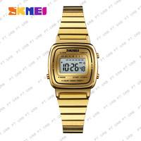 Jam Tangan Wanita Digital SKMEI 1252 GOLD Water Resistant 50m