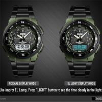Jam Tangan Pria Digital SKMEI 1370 ARMYGREEN Water Resistant 50m