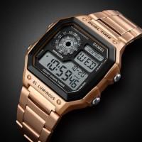 Jam Tangan Pria Digital SKMEI 1335 Rose Gold Water Resistant 30m