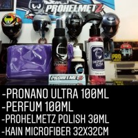 paket perawatan helm semicoating pronano/parfum/prohelmetz polish