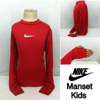 Baju manset kids merah nike adidas / baju manset anak