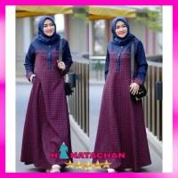 Baju Gamis Wanita Busui Terbaru / Dress Remaja Kekinian Motif Kotak