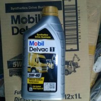 oli Mobil DELVAC 1 5W-40 FULLY SYNTHETIC DIESEL ENGINE OIL 100 AS
