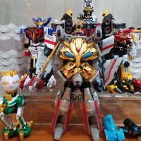 Goseiger DX set (gosei great, ground, ultimate, datas hyper, 9 heads)
