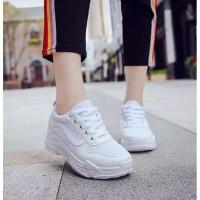 Merisa VALINA Sepatu Sneakers Wanita Kets Casual Vans Putih Pink