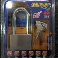 Gembok American Secure Tool 50 mm Long Shackle Anti Cut Anti Acid