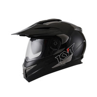 Helm KYT Enduro Matt Black Supermoto Fullface Doff Cross Full Dop