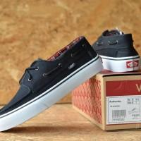 sepatu pria vans zapato black white 39-44 Dt import