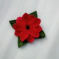 Bros Bunga Merah Flanel B07