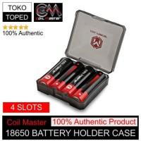 Authentic Coil Master 4 Slots 18650 Battery Holder Case | kotak batere