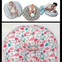 sofa Bayi motif angsa pink