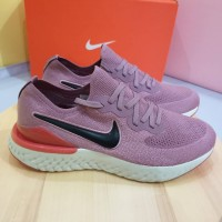 Sepatu Sneakers Nike Epic React Flyknit 2 Pink White Red Women