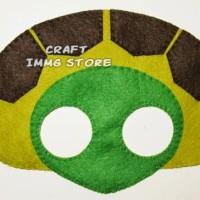 Topeng hewan kura kura turtle Flanel kostum pesta ulang tahun