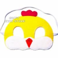 Topeng kostum binatang ayam warna kuning pesta ulang tahun