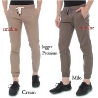 Celana Jogger Chino Pants Premium - Celana Jogger Panjang - Hitam, 29