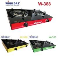 (Gojek) Kompor Kaca 2 Tungku Winn Gas W-388 / Win Gas W388 / W 388