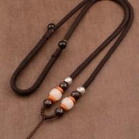 Kalung Liontin Batu Biji Bodhi Kombinasi Impor Kerajinan Tali J060