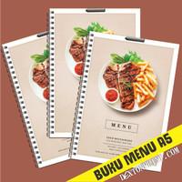 Cetak Buku Menu Restoran Ukuran A5 Jilid Spiral - Bisa SATUAN