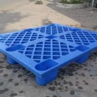 Pallet plastik ukuran 100x120x14 model kaki warna biru