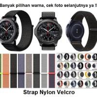 Samsung Gear S2 Classic R732 Sport 20MM 20 MM Strap Nylon Tali Jam - Lime-Grey