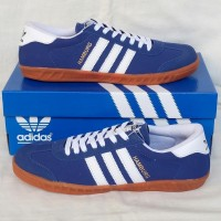 Sepatu Adidas Hamburg Blue White Murah Sneakers Termurah Cowok Ori