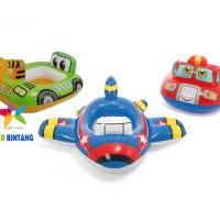 INTEX Ban Renang Pelampung Duduk Bayi / Anak Lucu | Pesawat | 89x74 cm