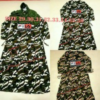 Baju muslim army gamis army fila gamis tentara anakgamis abri anak