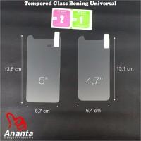 Tempered Glass Universal 4.5, 4.7, 5, 5.3, dan 5.5 inchi BERGARANSI