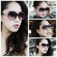 kacamata Wanita Model Bulat Oversize Mewah