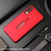 Samsung A7 2018 Silicone Ring Stand Luxury Soft Gel Capa Armor Case