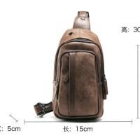 Tas slempang kulit pria cowok korea selempang slingbag HTI0848
