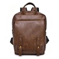 Tas Ransel Backpack Kulit Pria Man Leather Bag Laptop - COKLAT HTI0859