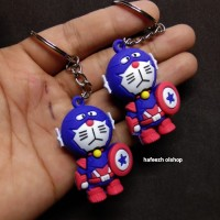 Gantungan Kunci Doraemon Berkostum Captain America