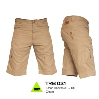 CELANA PENDEK GUNUNG / HIKING CANVAS WARNA CREAM TREKKING - TRB 021