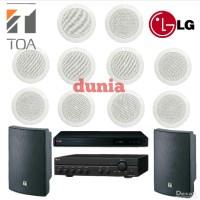 Paket Sound System Toa 10x ZR 646 R - 2x ZS 1030 Original Cafe