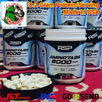 RSP Amino 8000 Plus Ecer 1 Tablet Repack Protein Keteng Suplemen Gym