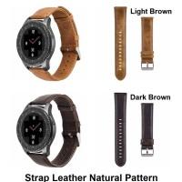 Samsung Gear S2 Classic 20MM 20 MM - Tali Jam Strap Kulit Natural Band