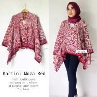 Blouse batik kartini moza red