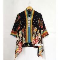 blouse batik kartini wayang hitam
