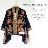 blouse batik kartini teratai blck