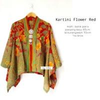 Blouse batik kartini flower red